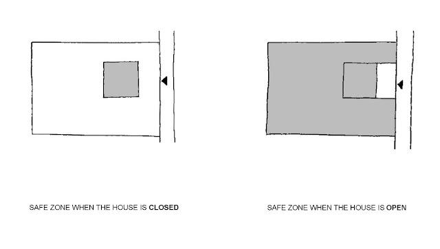 Illustration of safest house walls