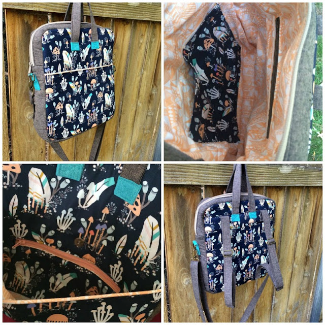 The Bookbag Backpack by Sewing Patterns by Mrs H