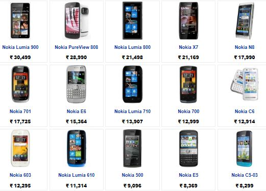 nokia mobile phones in india Nokia mobiles were one of the first mobile phones that entered the market and they have since then remained on top of the game they are known for their feature phones and smartphones alike and are priced between rs 1,000- rs 50,000.