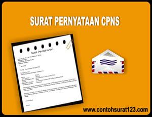 Gambar Contoh Surat Pernyataan CPNS