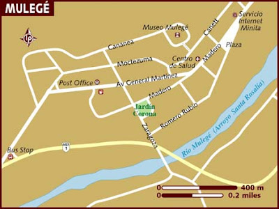 Mapa de Mulegé Político Región
