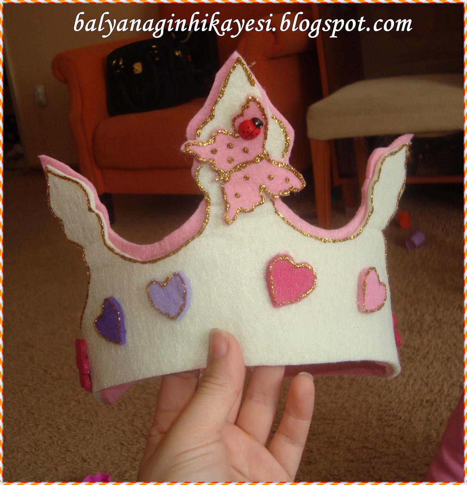 Keçe ile Prenses Tacı Yapımı