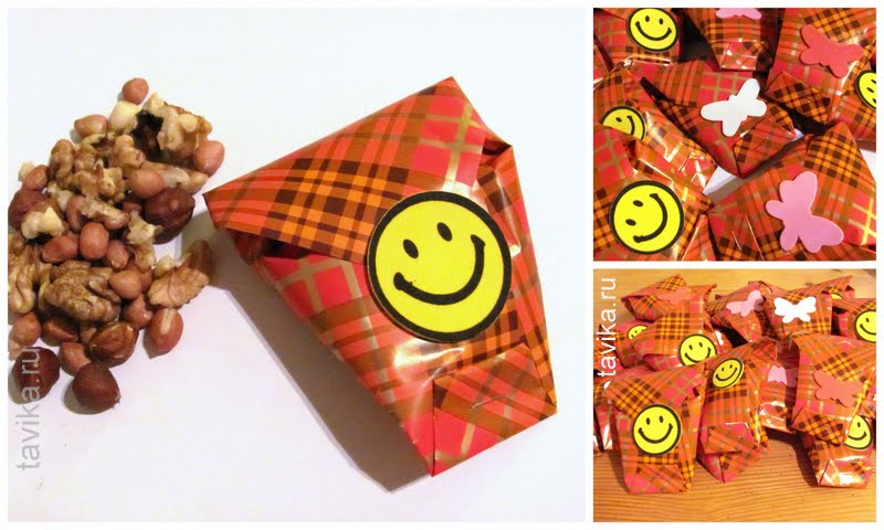кулечки с орехами в подарок