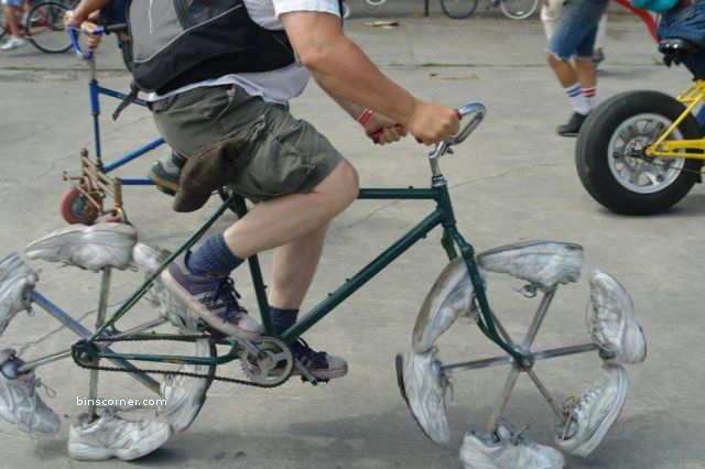 cycle with shoes