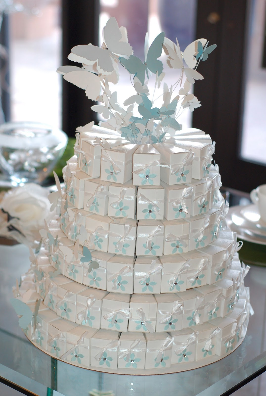 Paper Creations by Kristin: 5 layer Wedding Paper Cake