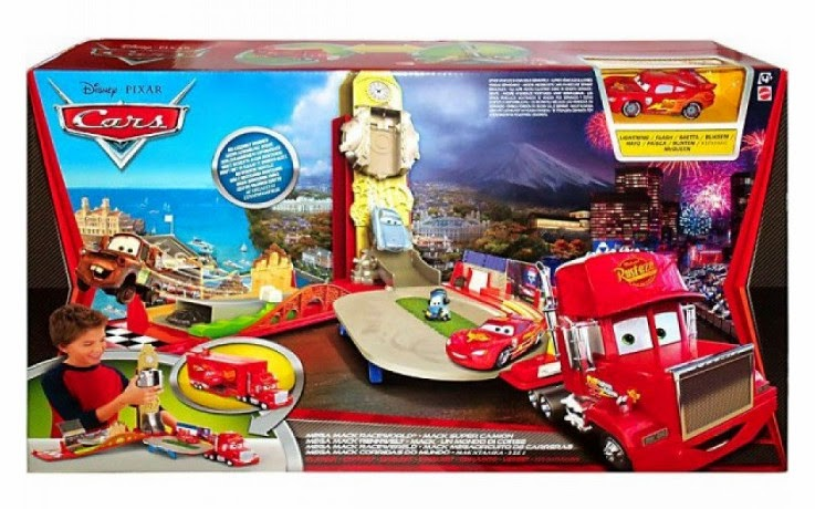 Libros y juguetes 1demagiaxfa juguetes disney cars 2 mack megacircuito de carreras - Juguetes de cars disney ...