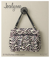 Miche Bag Jocelynne Prima Shell, White and Purple Zebra Purse