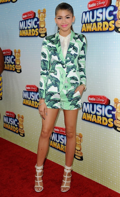 TALKING TRENDS, Zendaya Coleman in Juicy Couture's 'Palmetto' jacket and matching shorts