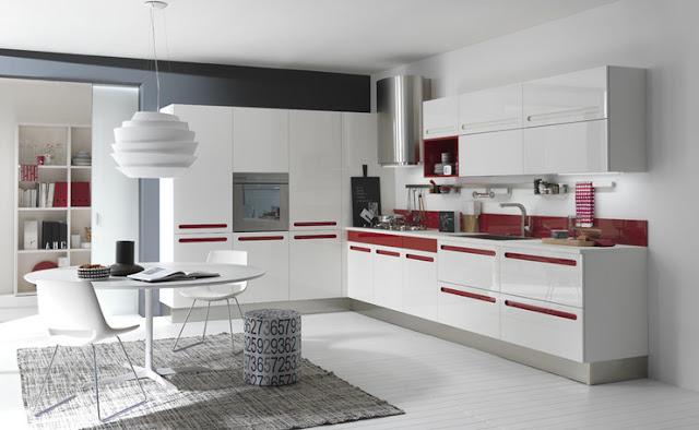 Cocinas con alegres y coloridos tiradores cocinas con estilo - Cocinas rojas y blancas ...