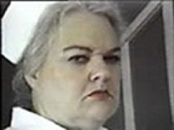 picture of a very angry looking nurse.