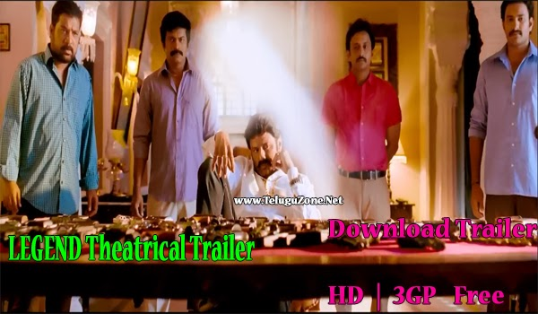 Legend Theatrical Trailer HD and 3gp For Mobiles free download, download legend trailers, balakrishna legend trailers online free download
