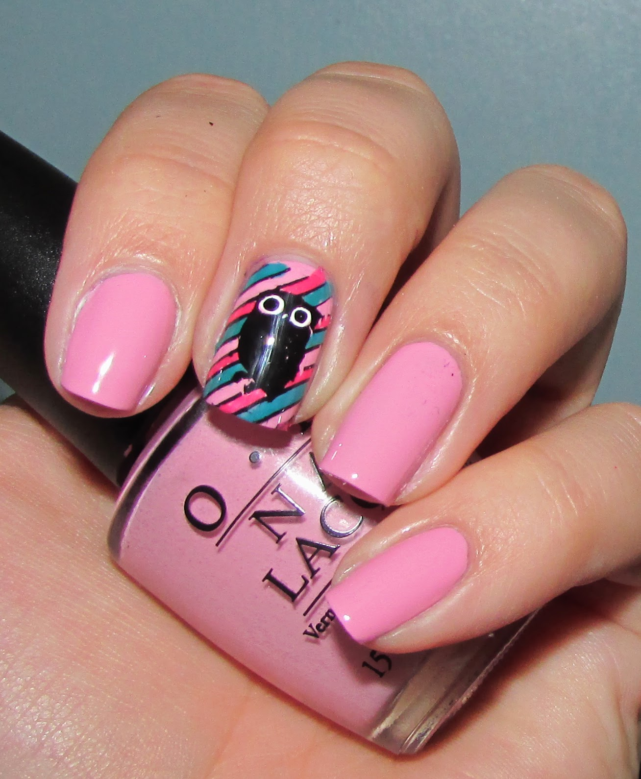 Life in Lacquer: Owl Stamping Nail Art