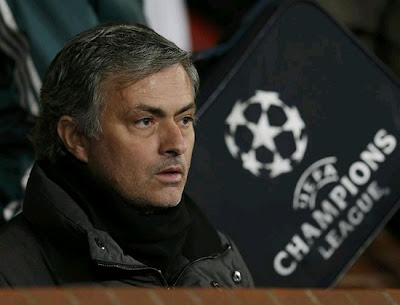 Mourinho at the bench in Old Trafford