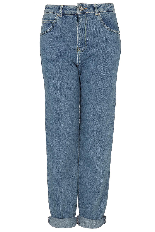 topshop moto vintage wash mom jeans uk 12 w30 l30 high