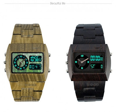 Beautiful Men's Wooden Full Color Watches By WeWood