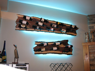 Wall hanging wine rack system