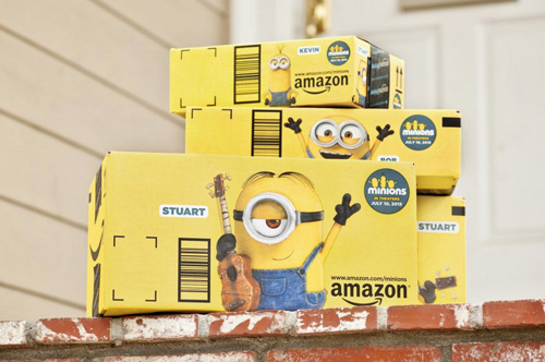 Amazon Print Ads Box Advertising Out of Home Minions