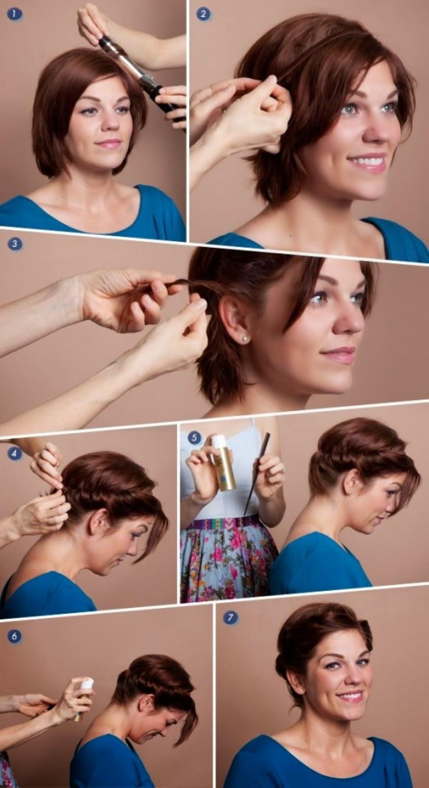 Вечерние причёски на короткие волосы в домашних условиях