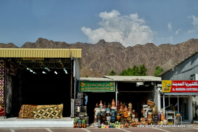 carpet and pottery market in Fujairah