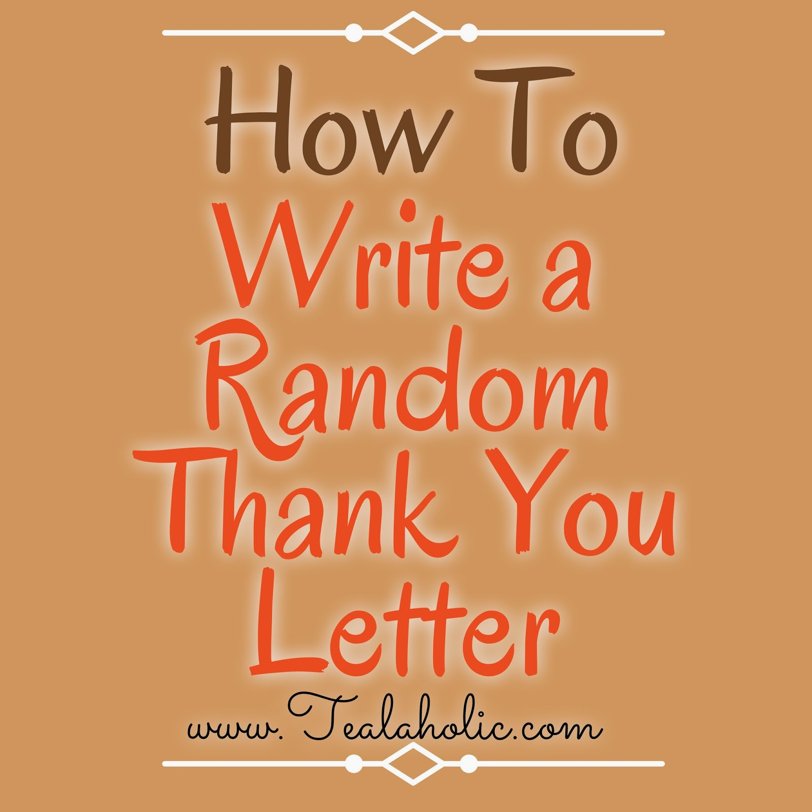 Thanksgiving: How To Write A Random Thank You Letter