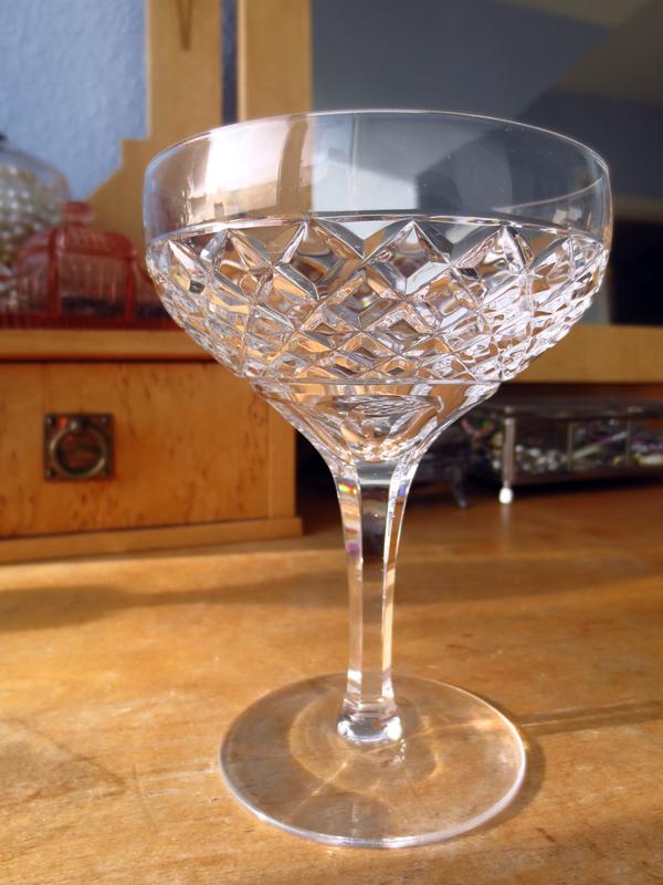 Champagneglas kupa kristall