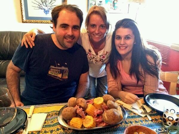 Con amigos en Tenerife