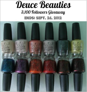 Deuce Beauties's 3100 Followers Giveaway