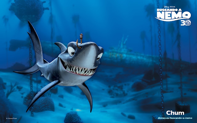 Wallpaper de la película de Pixar buscando a Nemo, Chum
