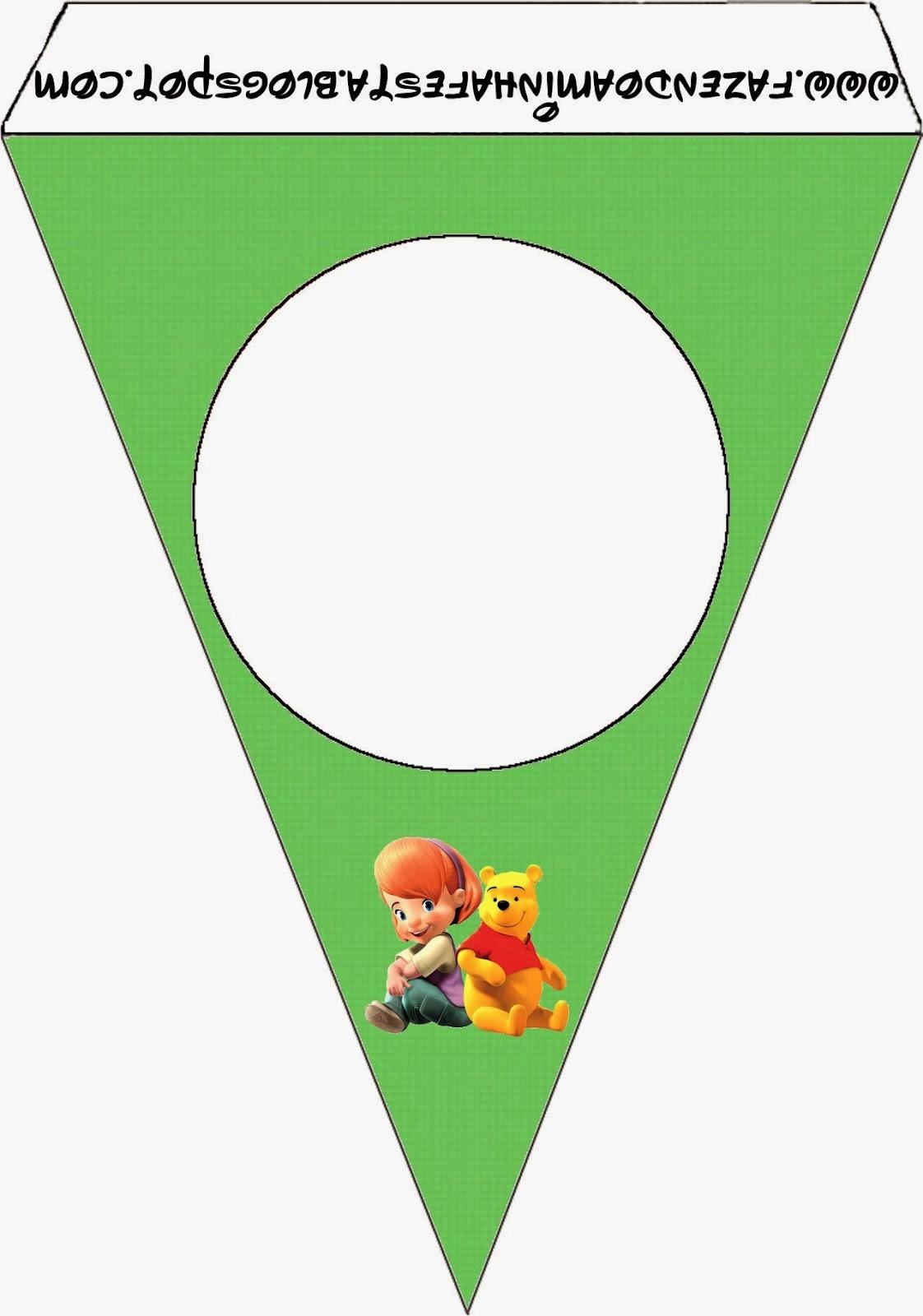 Para banderines de Winnie the Pooh.
