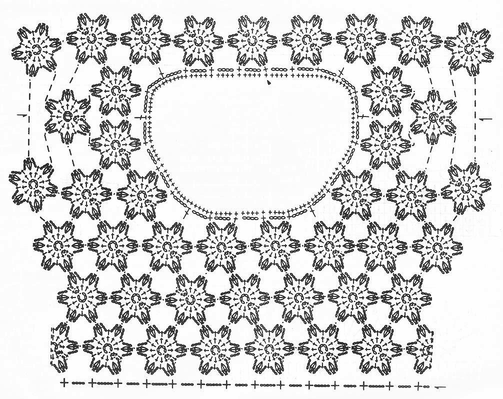 Вязание крючком цветков для платья 581