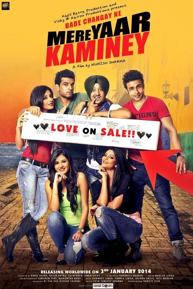 punjabi film poster mere yaar kaminey poster
