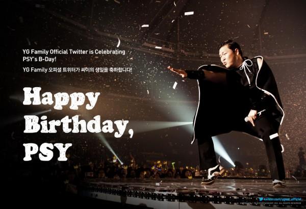 YG Entertainment Happy Birthday Psy