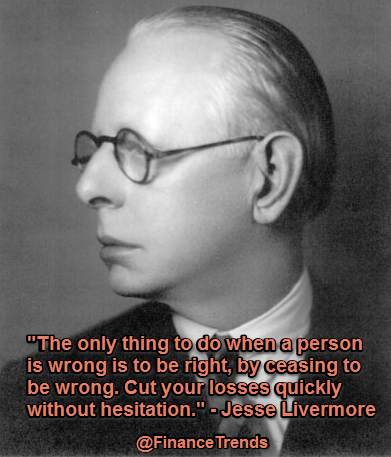Jesse Livermore quote cut losses