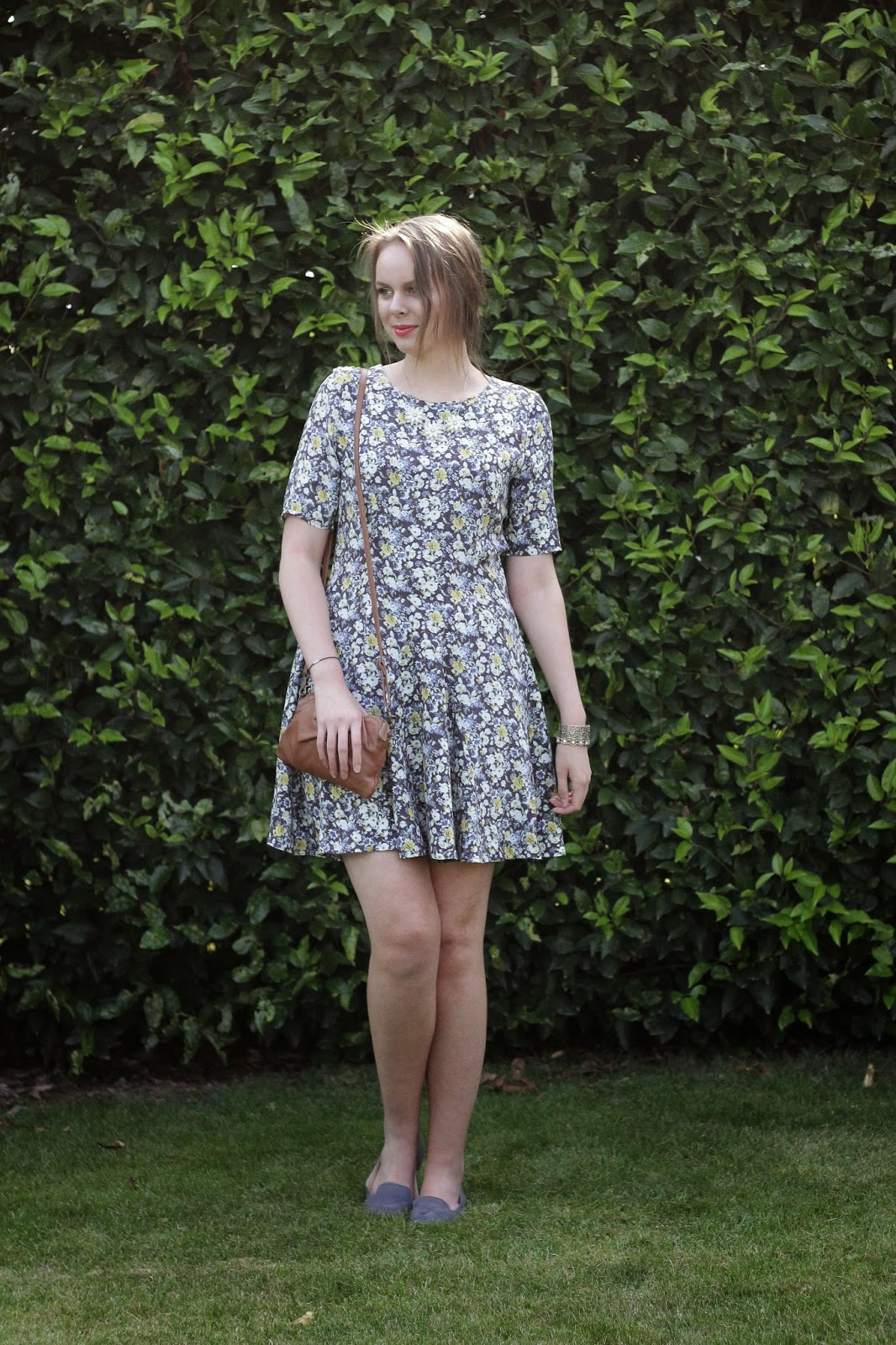 skater dress outfit of the day, h&m skater dress