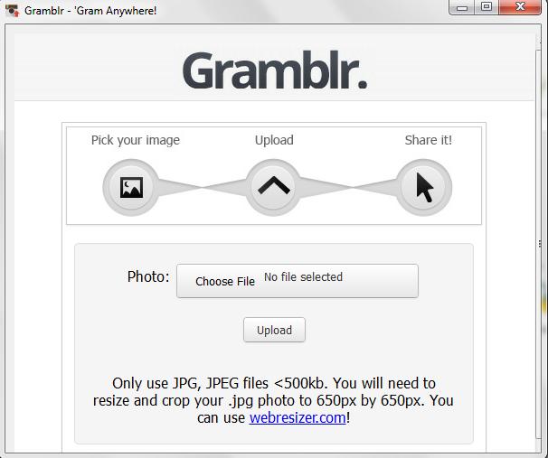 Gramblr Untuk Upload Foto dari PC ke Instagram