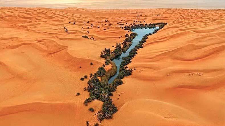 Los lagos en el mar de arena de Ubari
