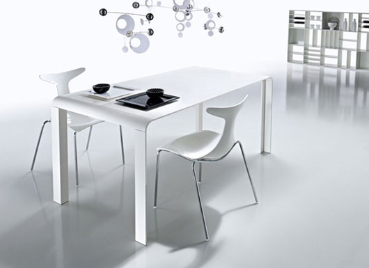 Mesa moderna para comedor para apartamentos peque os - Comedores pequenos para apartamentos ...