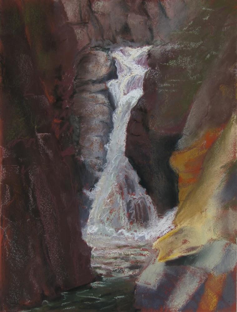 Adirondack artist, Flume painting