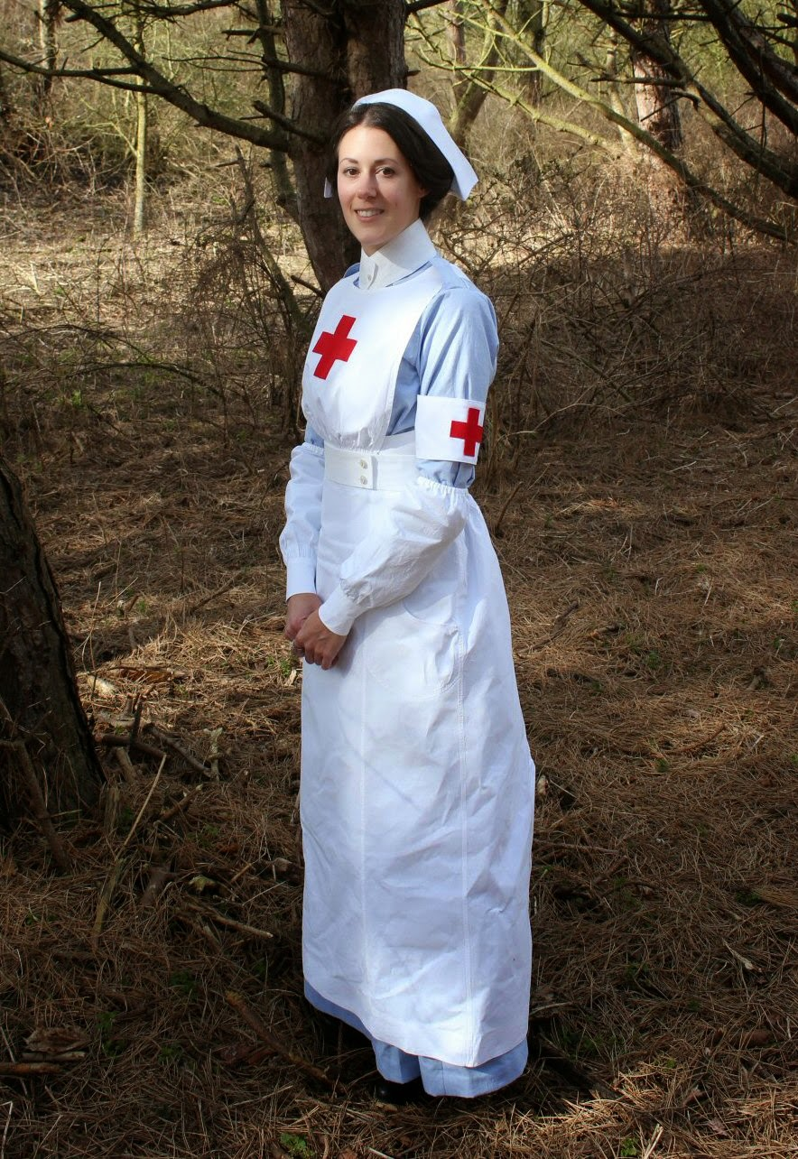 White nurse apron