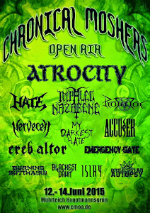 CHRONICAL MOSHERS OPEN AIR 12-14 JUNI 2015