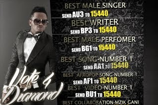 VOTE 4 DIAMOND,KILI MUSIC AWARDS
