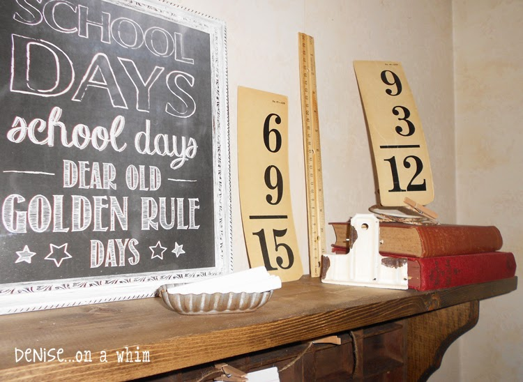 Vintage Flashcards and a Chalkboard Printable from Denise on a Whim