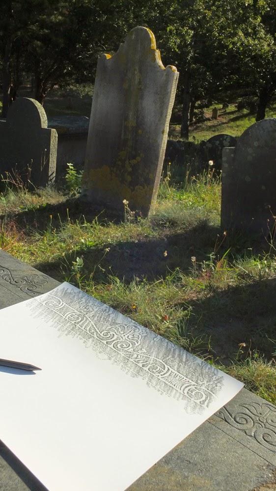 gravestone rubbing