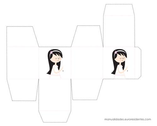 Caja de chuches comunión para niña