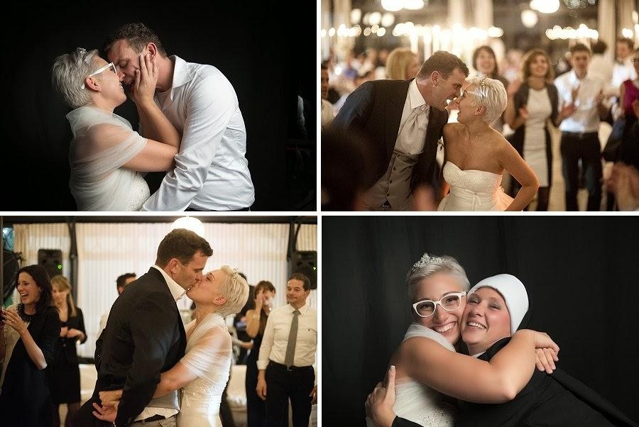 Momenti di festa in un matrimonio autunnale