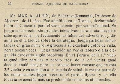 Libro sobre el Campeonato de Ajedrez de Barcelona 1913