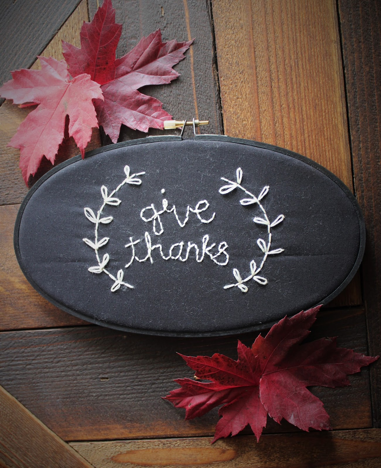 Tweetle Dee Design Co.: Give Thanks - Embroidery Pattern Download