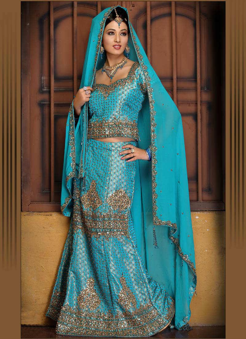 Fashion style indian lengha choli for Indian wedding dresses for bride with price