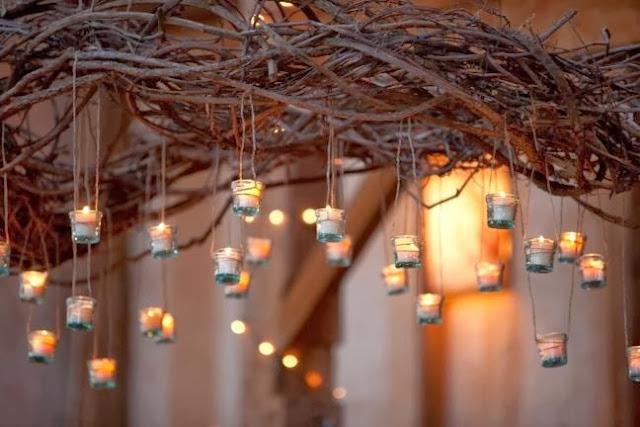 romas y portavelas decoracion navidad