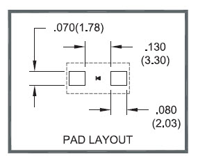 Pad layout recommendations for SMF6531HT High Temp Diode